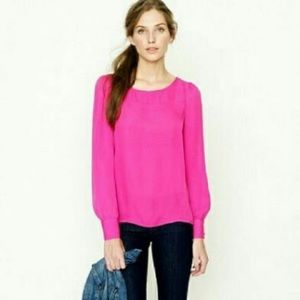 JCREW Talitha Hot Pink Blouse